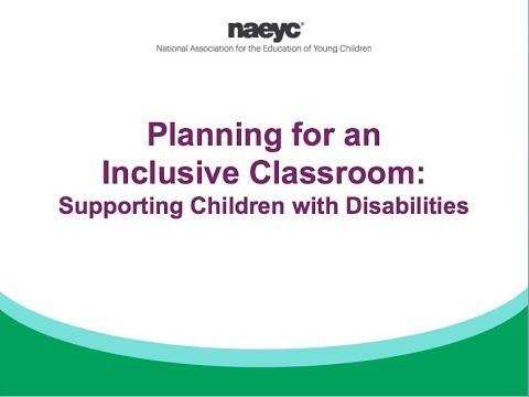 Webinar: Planning for an Inclusive Classroom