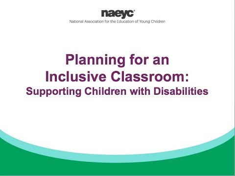 Webinar: Planning For An Inclusive Classroom