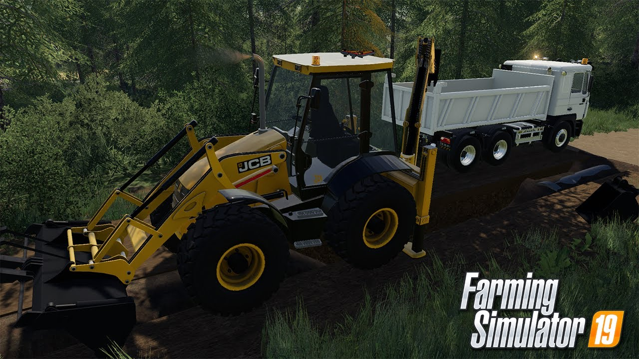 🚧 JCB 4CX AND 3CX IS OUT 🚧  PUBLIC WORKS ON GEISELSBERG   FS19 MINING MODS