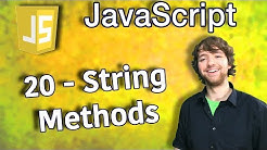 JavaScript Programming Tutorial 20 - String Methods (charAt, concat, includes, indexOf, lastIndexOf)