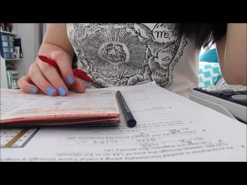 ASMR - Studying Physics - Pencil and Pen Writing, Flipping Paper, No Talking, Binaural
