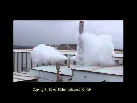 Gegenfahren Dampfkessel-Sicherheitsventil - YouTube