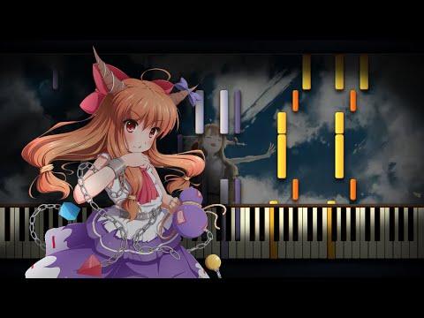 [Piano Solo] Touhou 7.5 - Broken Moon   Synthesia Tutorial   Arrangement