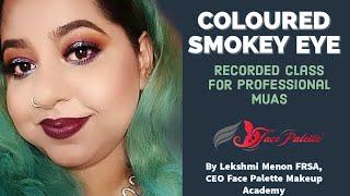 Coloured Smokey Eyes | English Makeup tutorial | Lekshmi Menon FRSA