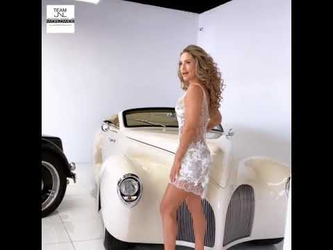 BTS Jennifer Nicole Lee super fitness model for Miami swim week exotic luxury cars