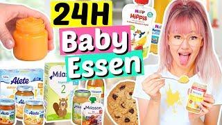 24 Stunden nur BABY NAHRUNG essen 👶🏻| ViktoriaSarina