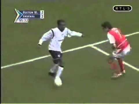 Jay Jay Okocha Skill Vs Arsenal