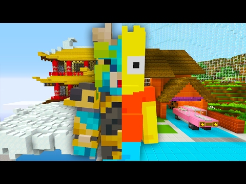 Bart Simpson Turns into a Dragon | The Simpsons | Minecraft Xbox [25]