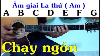 Chạy nốt âm giai La thứ ( Am ) - Tự học guitar solo