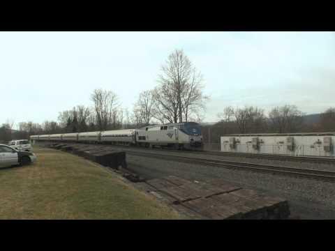 Amtrak Pennsylvanian, train 42, NS 04T Mattawana, PA 2 28 17