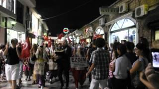 makedonya ohrid sokaklarında tulum sesi