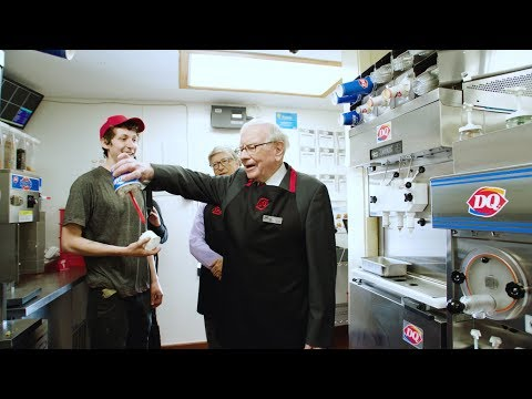 Bill Gates and Warren Buffett pick up a shift at Dairy Queen