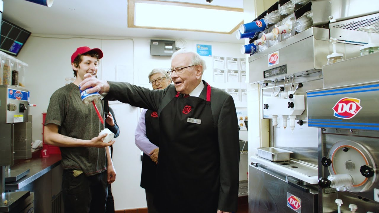 Image result for warren buffett and bill gates in dairy queen