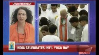 Sadhvi Bhagawatiji live on Times Now Channel for International Yoga Day (21 Jun 2015)
