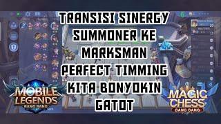 TRANSISI SINERGY SUMMONER KE MARKSMAN PERFECT TIMMING WIN