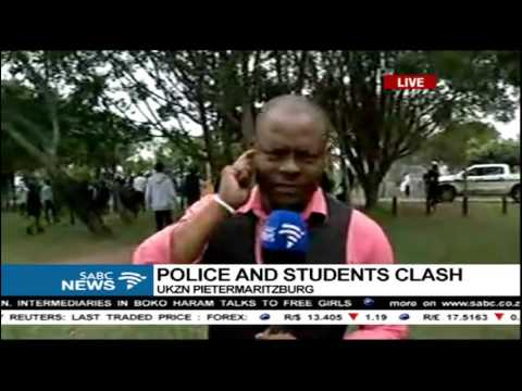 Police and students clash at the University of KwaZulu-Natal