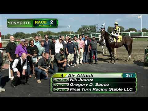 video thumbnail for MONMOUTH PARK 9-28-19 RACE 2