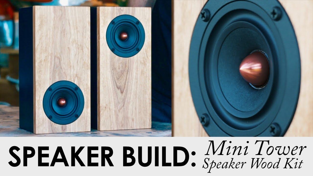 Mini Tower Desktop Speaker Kit   DIY Speaker Kit Build