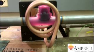 brazing a tube and a fitting with induction