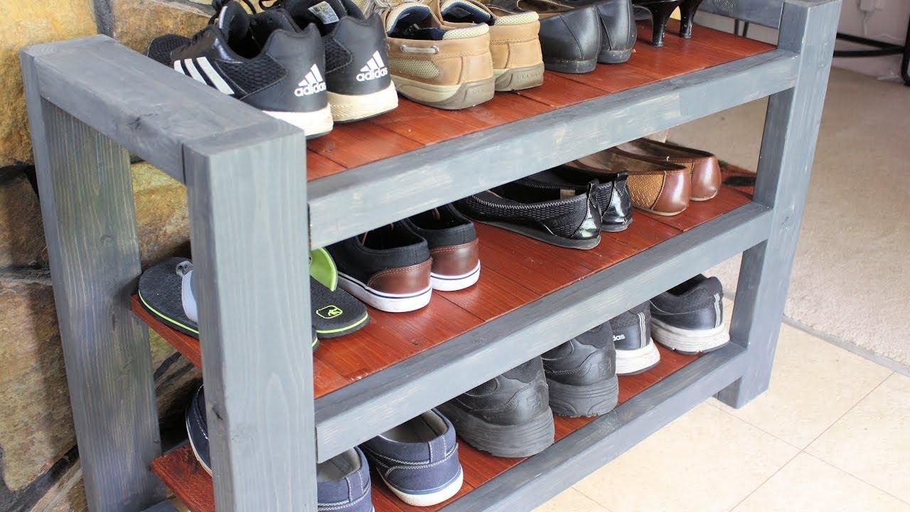shoe rack shelf diy custom
