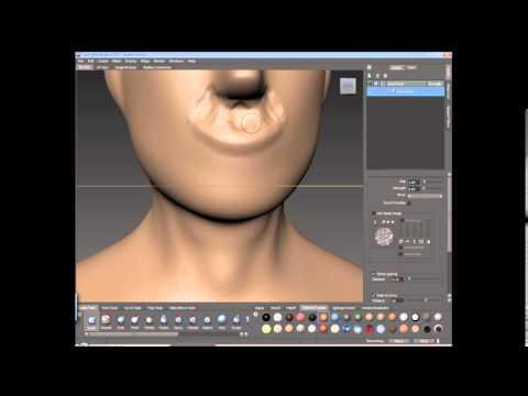 modeling a Human head test mudbox
