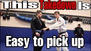 A Brown Belt Wrestler Showed Me This Easy BJJ Gi Takedown