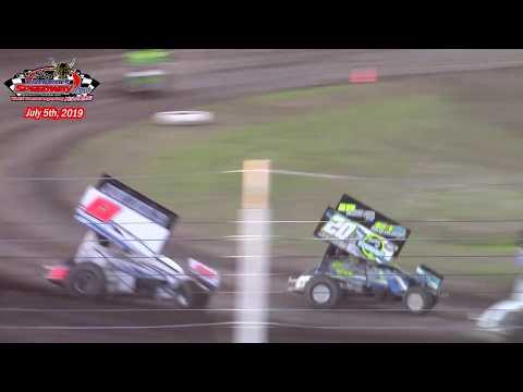 River Cities Speedway NOSA Sprint Car A-Main (7/5/19)
