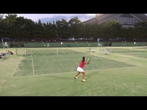6日 テニス女子シングルス 15コート 山梨学院×浦和麗明 4回戦 1
