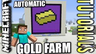 Minecraft PS4 - AUTOMATIC GOLD FARM - Tutorial ( PE / PS3 / XBOX / WII U )