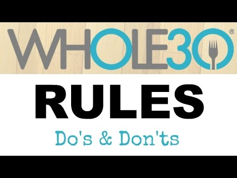 the whole 30 rules  do's  don'ts  youtube