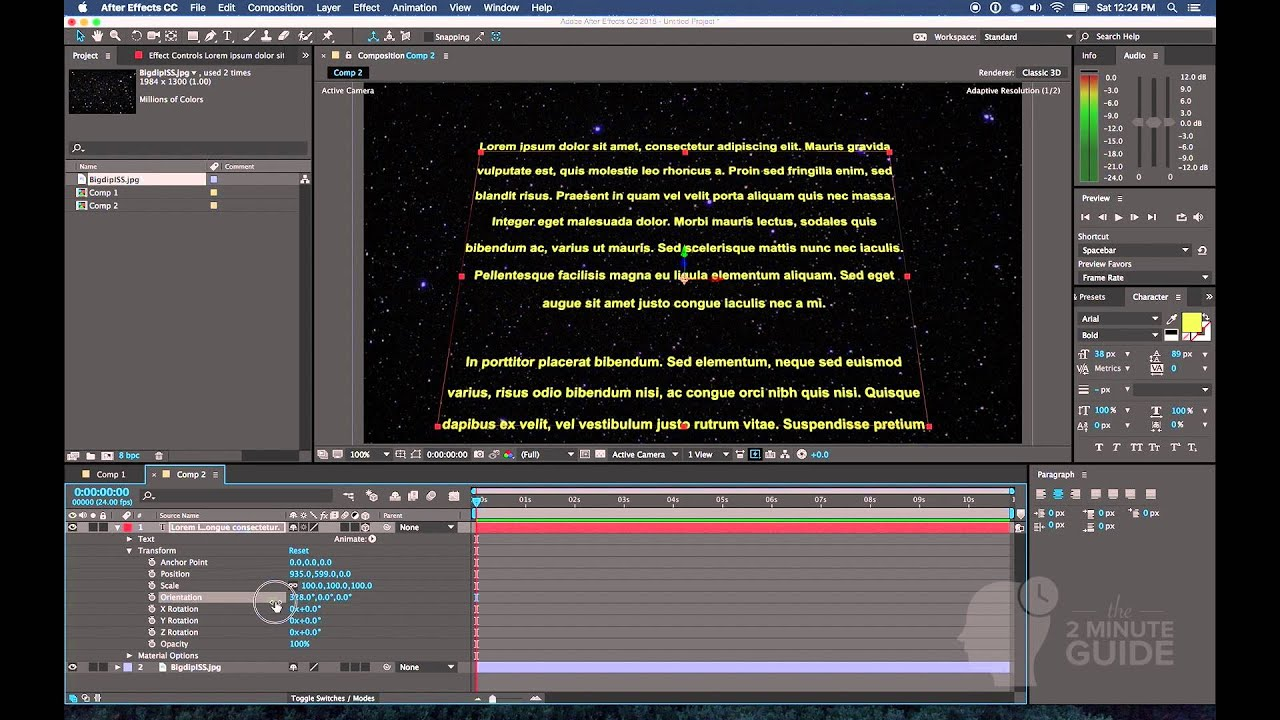 animation: create the star wars text crawl with adobe after, Powerpoint templates