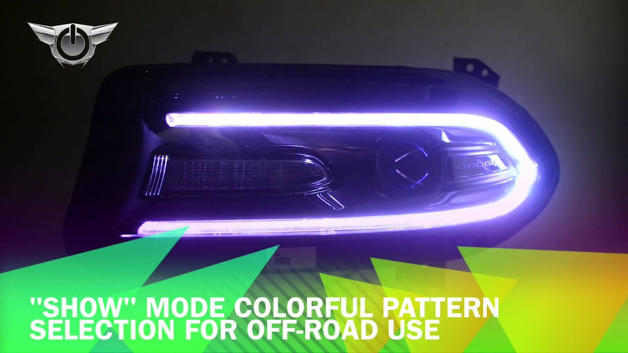 2015 Dodge Charger Colorshift Drl Headlight Conversion