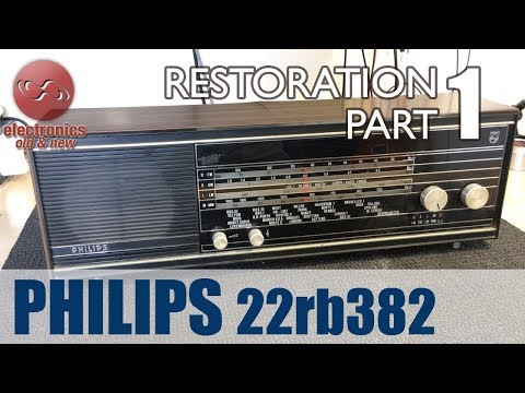 Philips 22rb382 tube radio restoration - Part 1. First look.