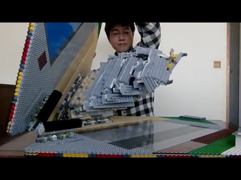 Behold the Pop-Up Book Castle Made of Legos
