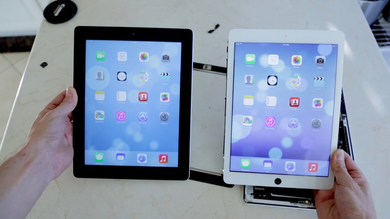 new ipad 5 sneak peek vs ipad 4 teardown youtube. Black Bedroom Furniture Sets. Home Design Ideas