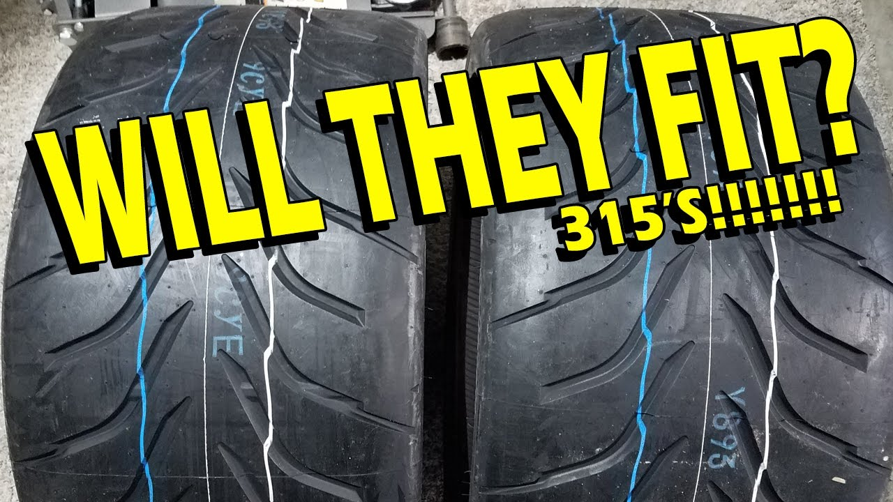 315 Tires On A 2016 2018 Camaro Lt Ss 1le Zl1 20 Quot Wheel