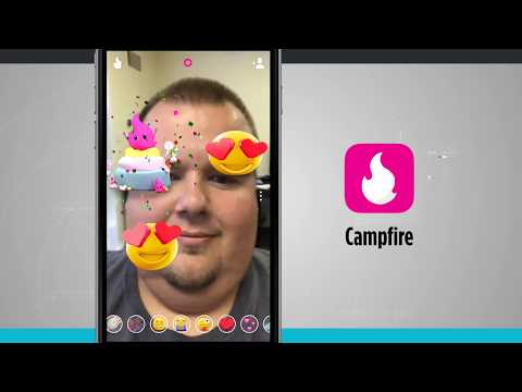 Campfire - Live Group Video Chat Room IPhone App Demo