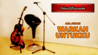 Ara Johari - Warkah Untukku ( Karaoke Versi Akustik )