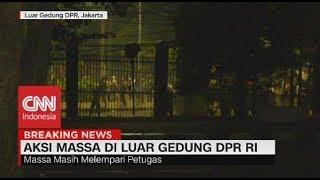 Usai Magrib, Kericuhan Massa Pecah Lagi di Belakang DPR