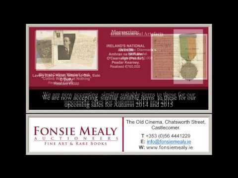 Fonsie Mealy Fine Art Auctioneers | Looking for Consignments from Clare and Surrounding areas