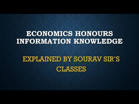 ECONOMICS HONOURS INFORMATION KNOWLEDGE HOW TO FIRST YEAR COACHING TUITION