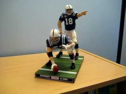 Peyton Manning & Jeff Saturday McFarlane NFL 24 loose figures