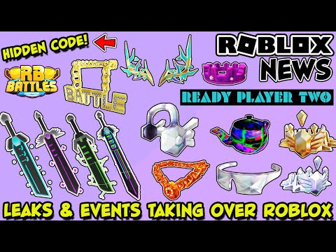 Roblox News Ready Player Two Event Leaks New Mystery Items Rb Battles Update Hidden Code Youtube