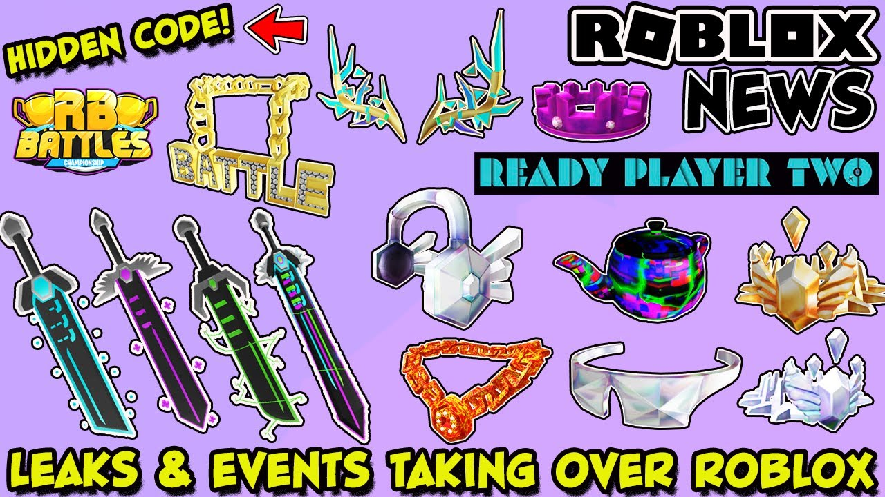roblox news ready player two event leaks new mystery items rb battles update hidden code youtube youtube