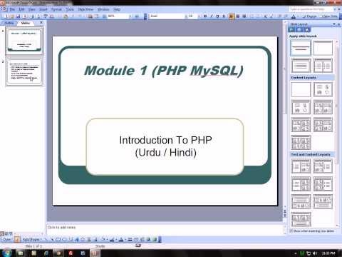 Introduction to PHP Class 2 - PHP and MySQL Complete Course in Urdu / Hindi