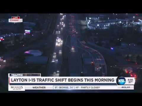 Southbound lanes in Layton on I-15 moved overnight