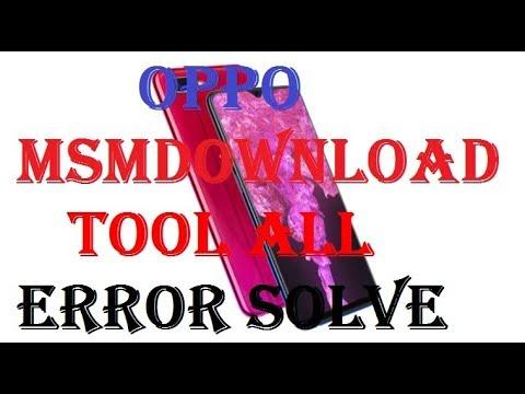 Tutorial Fix error MsmDownloadTool