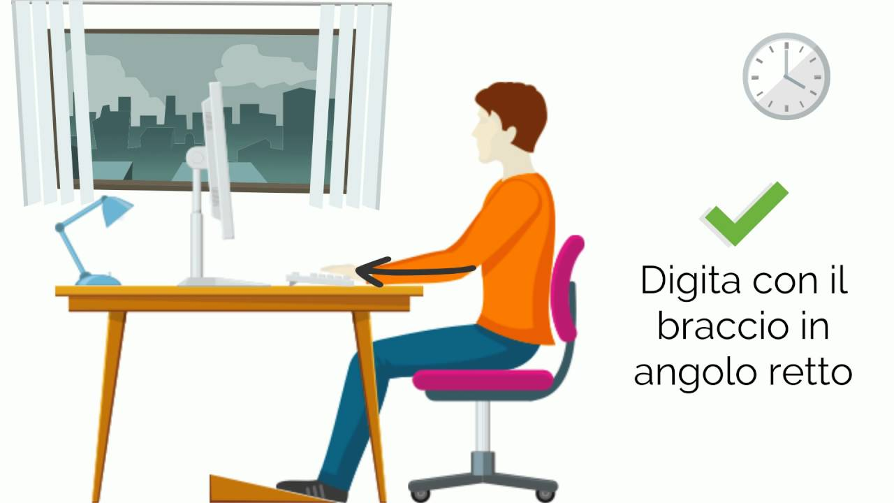 Posizione Corretta Ufficio.5 Consigli Per Una Corretta Postura In Ufficio