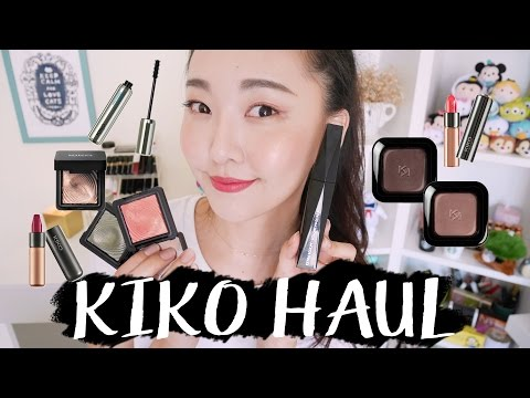 [ENG Sub] 小心, 很燒!! KIKO MAKEUP HAUL: Eyeshadow, Lipstick, Mascara & more