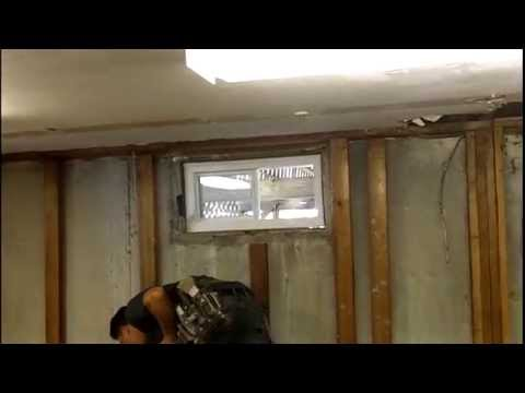 The installation of my Basement Windows & The installation of my Basement Windows - YouTube